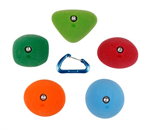 5 Medium Slopers   Climbing Holds   Mixed Bright Tones by Atomik Climbing Holds