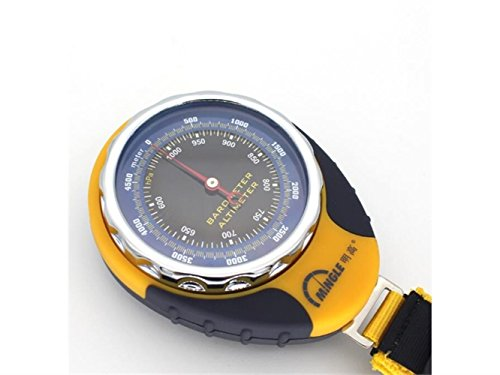 Yuchoi Solid Compass Multifunction Explore Barometer Compass Outdoor Navigation Tools with Thermometer (Yellow) by Yuchoi