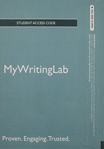 NEW MyWritingLab Generic without Pearson eText -- Standalone Access Card