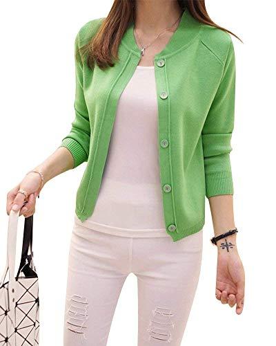 V Femme Fashion Tricot Veste en Automne Bouton Printemps 0ZqPZv