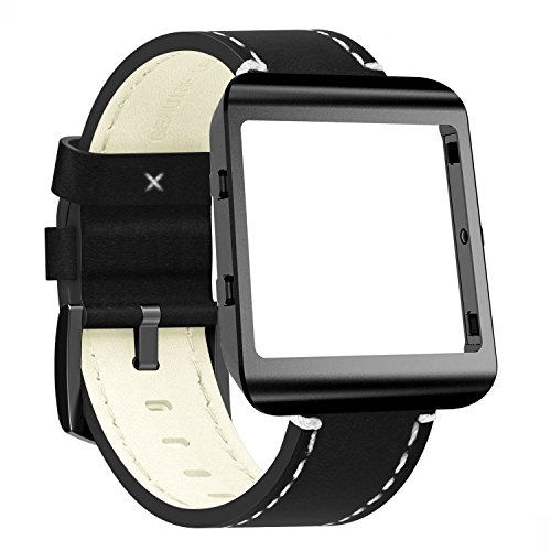 Fitbit Blaze Accessories Frame Housing Band Larger(6.2-7.8 in),Shareconn Classic Soft Flexible Synthetic Leather Replacement Sport Bracelet Strap Fitbit Blaze Smart Fitness ()