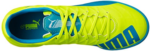 Puma Evospeed 4.4 Tt - Botas de fútbol Hombre Amarillo - Gelb (safety yellow-atomic blue-white 04)