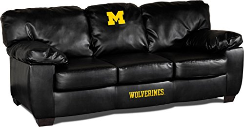 Michigan Classic Sofa (Imperial Officially Licensed NCAA Furniture: Classic Leather Sofa/Couch, Michigan Wolverines)