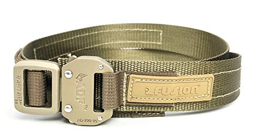 """Fusion Tactical Military Police Trouser Belt Coyote Brown Small 28-33""""/1.5"""" Wide"""