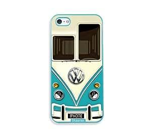 Shawnex Vw Minibus Teal Aqua Plastic iPhone 5 & 5S Case - Fits iPhone 5 & 5S