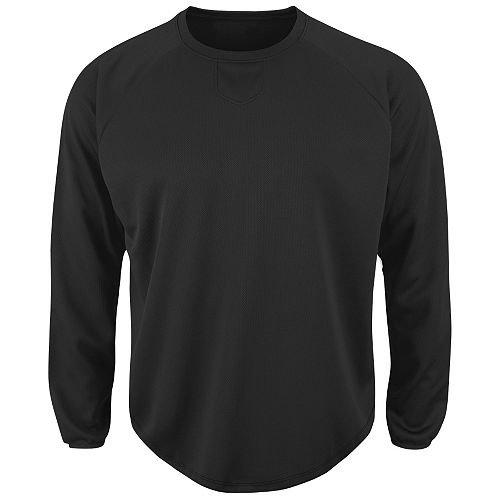 野球/ソフトボールデザインクルーネックプルオーバーフリースホームプレートのゲーム、warm-ups &プラクティス B00HZUIH8U X-Small|ブラック ブラック X-Small