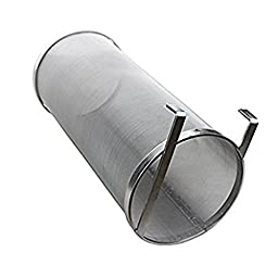 Gooday Stainless Steel Hop Spider Strainer Homebrew Beer Pellet Hop Filter Multipurpose 300 Micron Filtering for Brew Kettle,5.9 x 13.78 inches