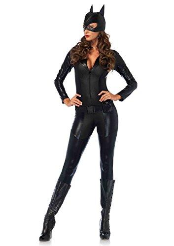 Leg Avenue Women's Sexy Crime Fighter Costume, Black, Small