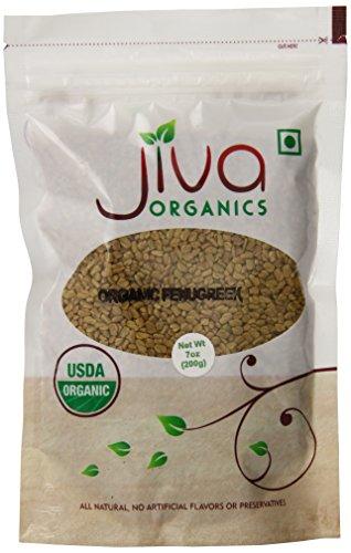 Jiva Organics USDA Organic Methi Fenugreek Seeds, 7 Ounce (Pack of 24) by Jiva Organics