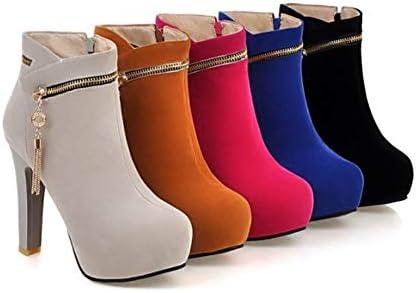 Large Size Shoes Caviglia Abito Bootie Martin Boot Partito OL Scarpette EU 34-43,Giallo,37EU