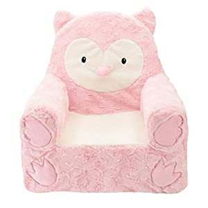 Exceptional Animal Adventure Sweet Seats Owl Plush Kids Arm Chair   Pink