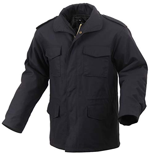 Rothco M-65 Field Jacket, Black, - Field Mens Jacket