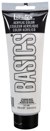 Liquitex BASICS Acrylic Paint, 8.45-oz tube, Titanium White