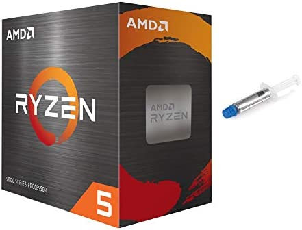 AMD-Ryzen 5 5600X 4th Gen 6-core Desktop Processor with Wraith Stealth Cooler, 12-Threads Unlocked, 3.7 GHz Up to 4.6 GHz, Socket AM4, Zen 3 Core Architecture, w/Mytrix Thermal Paste