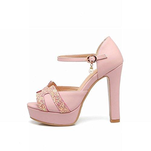 Sandali Con Tacco Alto Rosa Con Fibbia Ad Ardiglione