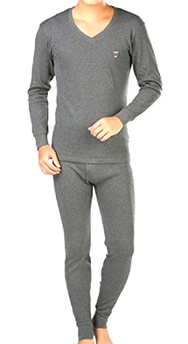 Autumn and winter men's thermal underwear sets(Dark Grey) - 2