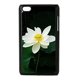 Custom Phone Case with Lotus Image On The Back Fit To iPod Touch 4