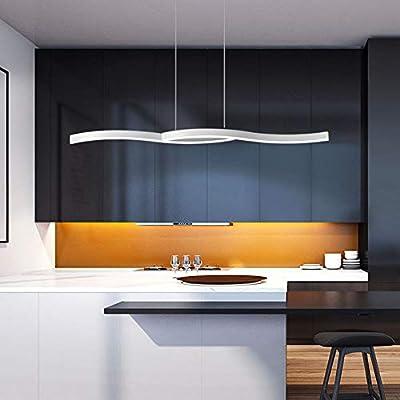 FCX-LIGHT Minimalista Moderno LED Colgante Luz Mesa de Comedor ...