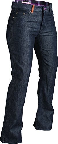 Highway 21 Palisade Women's Motorcycle Jeans W/CE Knee Armor Black Size 18 ()