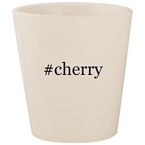 Wine Hill Bar Cherry (#cherry - White Hashtag Ceramic 1.5oz Shot Glass)