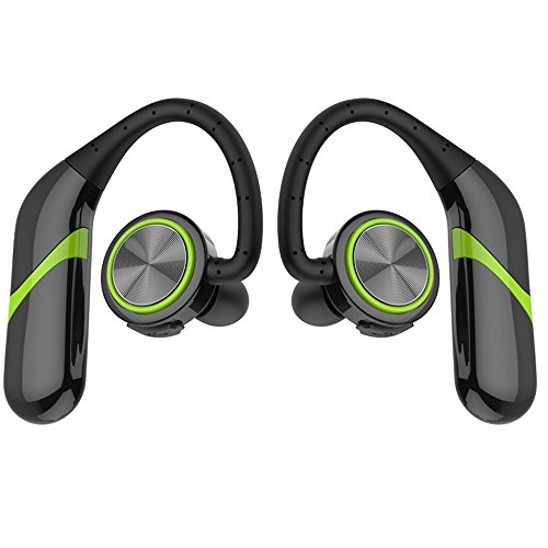 TWS Wireless Sports Business Bluetooth Headset Without Wire Control, No Headset And 360-Degree Stereo Surround, High Version 4.2 Bluetooth, IPX6 Waterproof Rating (Green) by Baecon Pet