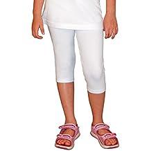 Khanomak Girls Capris Crop Cotton Leggings pants (Sizes 2T- 12 Yrs)