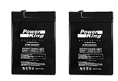 6V 4.5AH (2) Pack Oreck Electric Broom AV701B Replacement Battery Beiter DC Power from Beiter DC Power