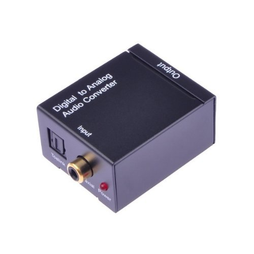 Digital Optical Coax Coaxial Toslink to Analog RCA Audio Converter Adapter, Best Gadgets