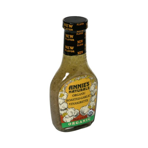 Annie's Naturals Organic Roasted Garlic Dressing, 8-Ounce Bottles (Pack of 6) (Annies Naturals Roasted Garlic)