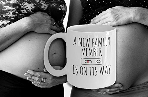 A New Family Member is on its Way - Motherhood Baby Infant Maternity Baby Shower Gift Ideas Souvenir Printed Coffee Cup Mug]()