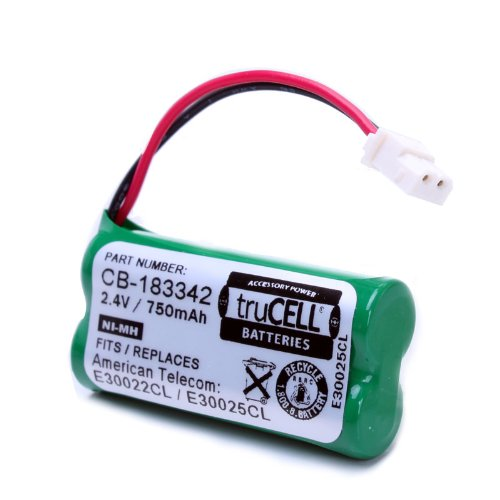 truCELL 4-Pack High-Capacity Replacement Battery for V-Tech , AT&T Cordless Phones Equivalent to V-Tech BT183342 , BT283342 , AT&T BT166342