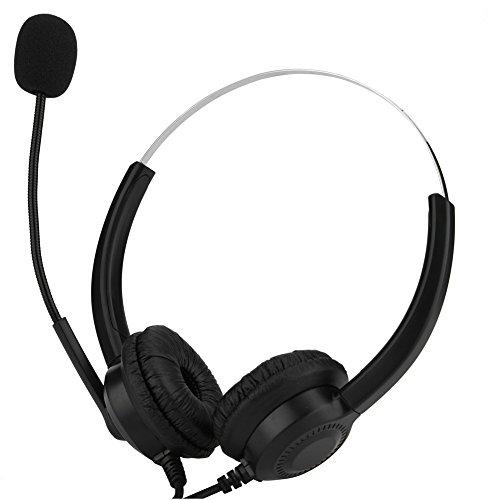 전화 헤드셋 Acouto 음소거 기능 소음 차단 통신 청각 보호 콜센터 USB 헤드셋 판매 보험 병원 사업자 등 전화 대응 헤드폰 양쪽 귀 / Phone Headset Acouto Mute function noise canceling communication hearing protection call center USB heads...