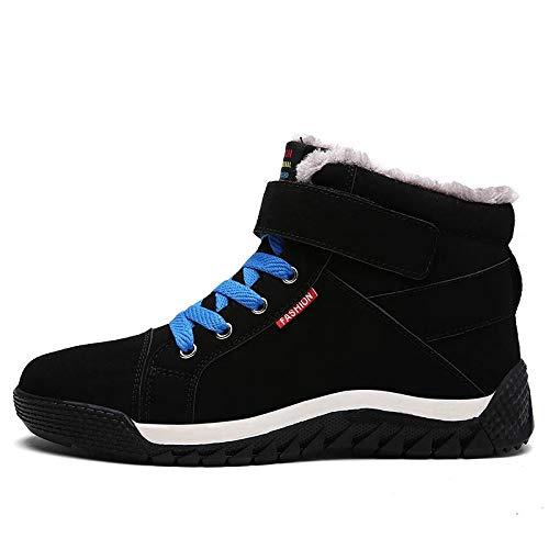 Con Para Nieve Fhcgmx Botines Invierno Moda Masculinos Cortos Black Gamuza Cordones Botas La De Cómodos Boots Hombres Zapatos nIqOIBwg