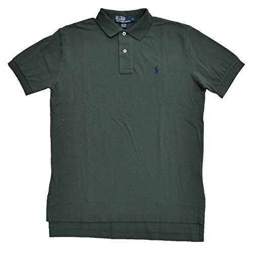 Polo Ralph Lauren Classic-Fit Mesh Polo (Olive Green Navy Pony, Small)