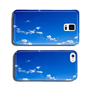 blue sky background with tiny clouds cell phone cover case Samsung S5