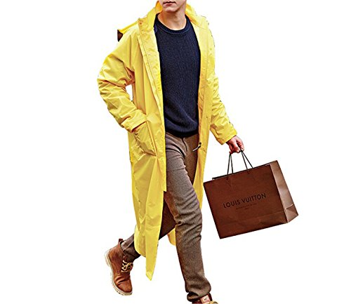 MRxcff Impermeable Raincoat Women/Men Waterproof Trench Coat Poncho Single-Layer Rain Coat Women Rainwear Rain Gear Poncho Yellow 4XL - Single Layer Jacket