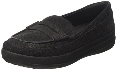 Women's F Snake Black embossed Fitflop Snake Black Sporty Loafer Penny g7ddwSq