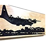 Valentines Day Gift For Him C-130 Hercules Gifts Military Airplane Decor Carved Wood Sign