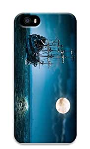 cases shop phantom ship Ocean Sea Under The Moon and Sky Clouds PC Case for iphone 5/5S