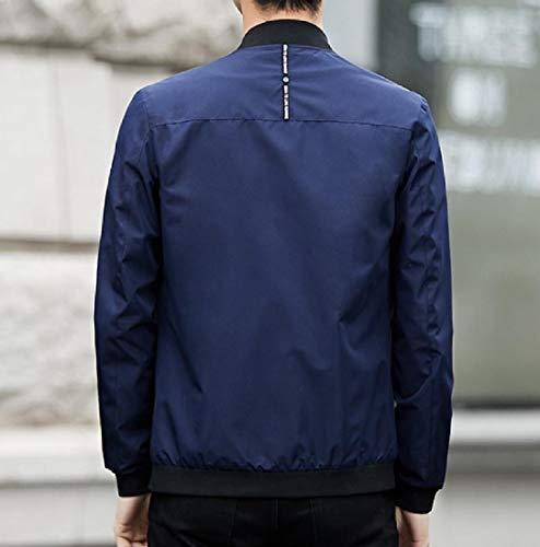 Size Men's Sankt Jacket Slim Autumn Fit Dark Sporty Casual Wrap Plus Blue Match All 6pp8wx