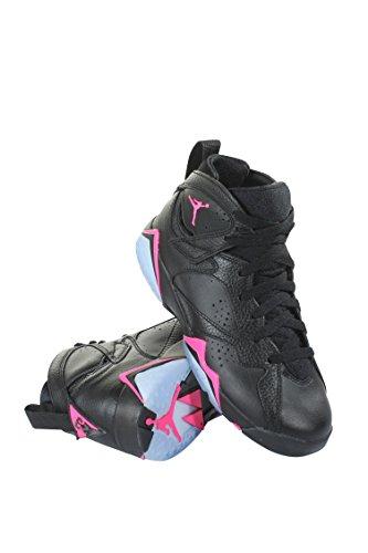 Jordan AIR 7 RETRO GG girls fashion-sneakers 442960-018_9Y - BLACK/HYPER PINK-HYPER PINK by Jordan