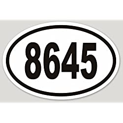 Removable 8645 Bumper Laptop Sticker Vinyl Weatherproof Anti-Trump