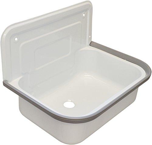 Sanicomfort Steel Sink, White Enamel, 1795368