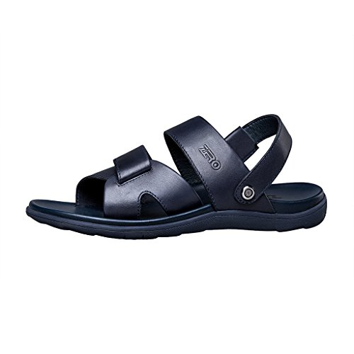 Zro Heren Zomer Casual Comfortabele Platte Strand Sandalen Blauw