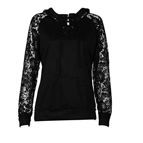 Leather Padded Rocker - Orangeskycn Womens Hoodies Lace up Tie Coat Sweatshirt Sweater Jumper Tops