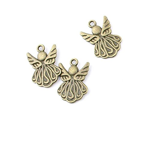 40 pieces Anti-Brass Fashion Jewelry Making Charms 2597 Little Angel Cherub Wholesale Supplies Pendant Craft DIY Vintage Alloys Necklace Bulk Supply Findings