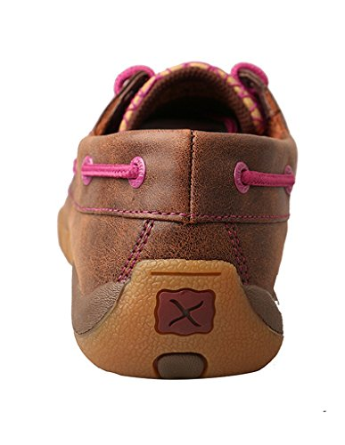 Twisted X Womens Purple Accent Driving Moc Brown E Purple