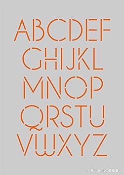 Plantilla para manualidades, diseño de abecedario con letras ...