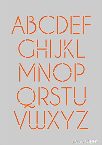 Stencil Template For Diy Projects Large Letters Abc Design A5