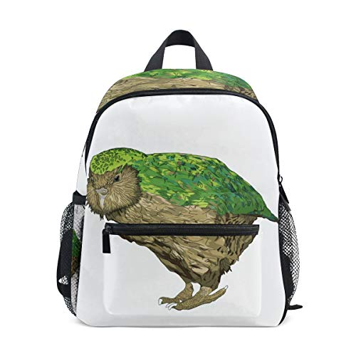 Kids School Bag Backpack Kakapo New Zealand Bird Children ()